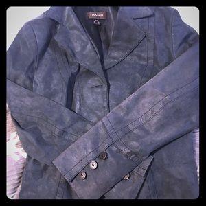 2/$40 vintage Danier grey/blue Suede Blazer